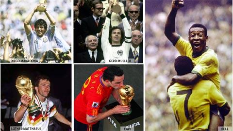 10 cầu thủ vĩ đại nhất lịch sử World Cup