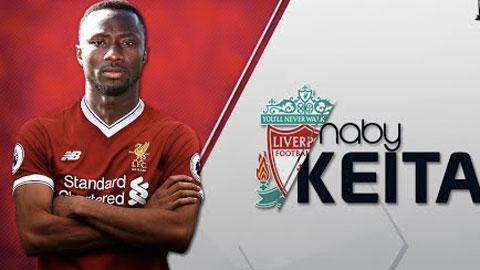 Tân binh Keita kế thừa số áo của Gerrard ở Liverpool