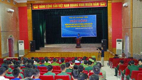 Lữ đoàn 147 Hải quân tham gia diễu hành tuyên truyền phòng chống ma túy