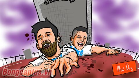 Zombie Messi đội mồ sống dậy cứu Argentina