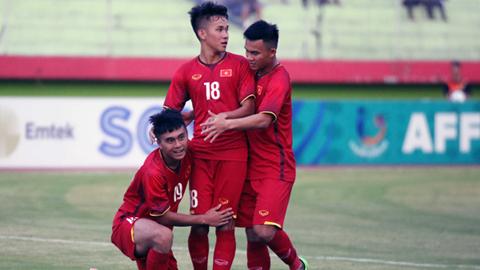 Giải U19 ĐNÁ 2018: Thắng đậm Lào, U19 Việt Nam vẫn xếp sau Thái Lan