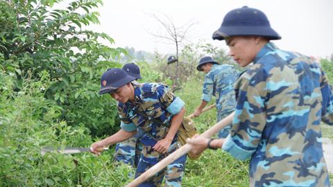 Lữ đoàn 147 Hải quân, giúp dân phòng chống bão