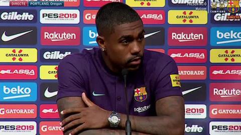 Tân binh Malcom: 'Tôi đến Barca là vì muốn học hỏi Messi'