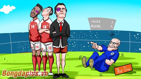 Arsenal thua trên thế ngâng cao đầu