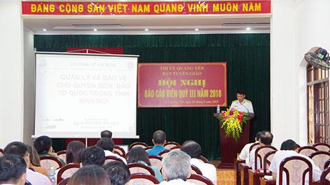 Lữ đoàn 147 Hải Quân tuyên truyền về biển đảo tại thị xã Quảng Yên, tỉnh Quảng Ninh