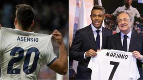 Asensio chứ không phải Mariano được cơ cấu giữ áo số 7 của Ronaldo