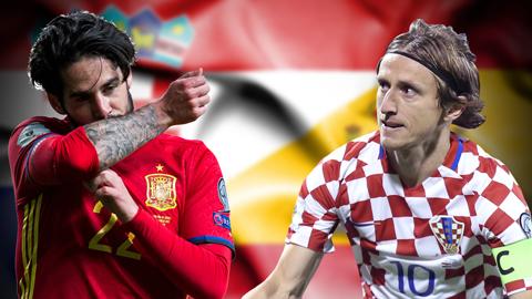 Tây Ban Nha vs Croatia: Bình minh và hoàng hôn