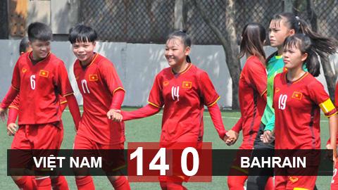 U16 nữ Việt Nam thắng đậm 14-0 trước Bahrain ở vòng loại U16 châu Á