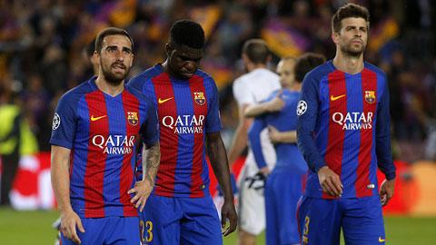 Hàng thủ Barca sa sút từ đầu mùa giải: Bức tường lọt gió