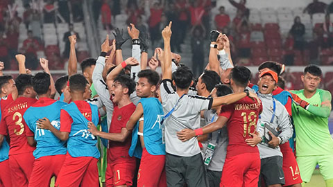 Giành vé vào vòng 2 VCK U19 châu Á, HLV U19 Indonesia ca ngợi học trò