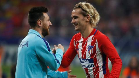Griezmann từ chối Barca vì không muốn là cái bóng của Messi