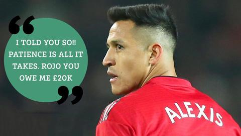 Sanchez đặt cược 20.000 bảng cho việc Mourinho bị sa thải
