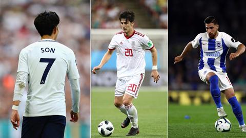 Son Heung-min và 2 sao Iran lọt top 5 đắt giá nhất Asian Cup 2019
