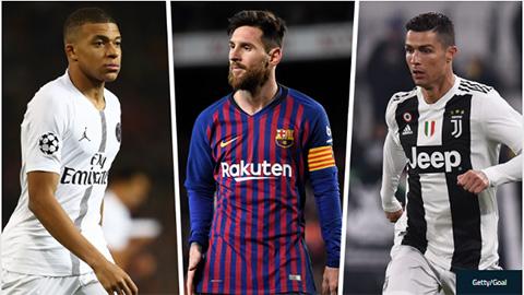 Messi, Ronaldo và Mbappe bám sát nhau trong cuộc đua tới Chiếc giày Vàng