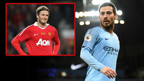 David Silva bắt kịp thành tích kiến tạo của Beckham