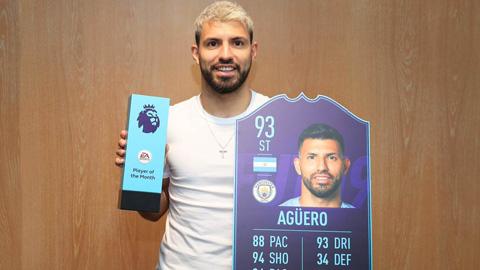 Giúp Man City trở lại đỉnh, Aguero và HLV Guardiola nhận thưởng lớn