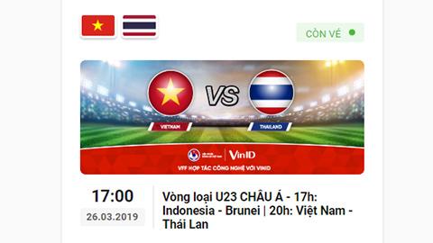 Dễ dàng mua vé Việt Nam đấu Thái Lan, Indonesia ở vòng loại U23 châu Á