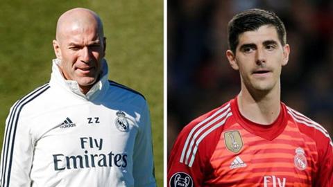 Zidane giải thích lý do không dùng Courtois