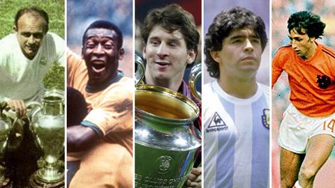 Huyền thoại Real xếp Messi ngang hàng Pele, Cruyff và Maradona