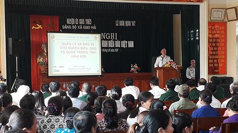 Lữ đoàn 147 Hải quân, thông tin biển đảo và thu hút nguồn nhân lực tại Nam Định.