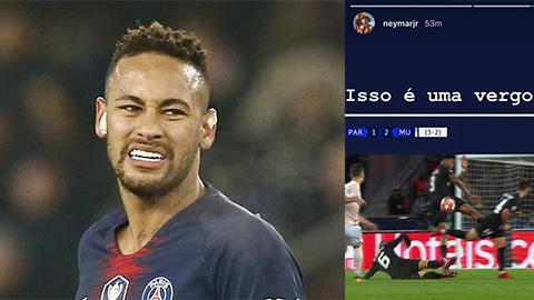 Neymar bị UEFA điều tra sau thất bại của PSG trước M.U ở Champions League