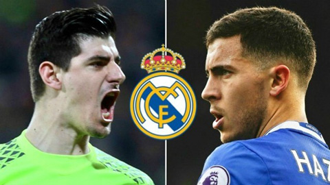 Courtois chèo kéo Hazard về Real Madrid