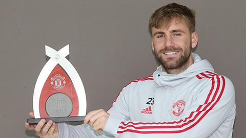 Luke Shaw nhận giải cầu thủ M.U hay nhất tháng 3