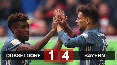 Dusseldorf 1-4 Bayern: Sao trẻ tỏa sáng, Hùm xám trở lại ngôi đầu