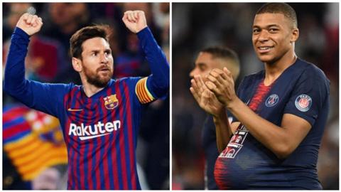 Chiếc giày vàng châu Âu 2018/19: Mbappe rút ngắn cách biệt với Messi