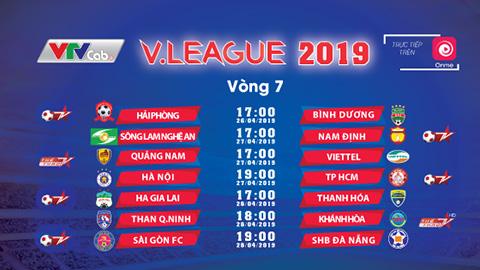 Xem trực tiếp Vòng 7 V.League trên Onme