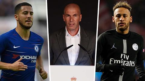 Zidane có thể giúp Neymar & Hazard về chung một đội