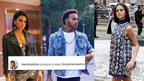 Hamilton bập vào bồ cũ của Neymar