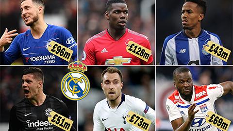 Real sẽ chi hơn nửa tỷ euro cho 5 ngôi sao vào Hè 2019