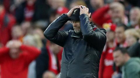 Những con số khiến thất bại của Liverpool thêm đau đớn