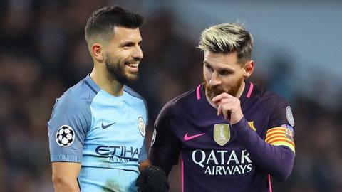Aguero giải thích về tuyên bố Messi không thể giành Quả bóng vàng