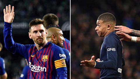 Messi cho Mbappe 'hít khói' ở cuộc đua Giày vàng châu Âu