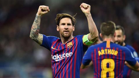 Messi giành Chiếc giày Vàng châu Âu lần thứ 3 liên tiếp