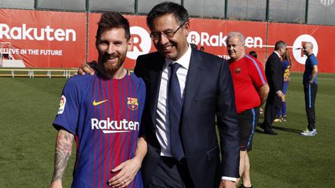 Barca an ủi Messi như thế nào?