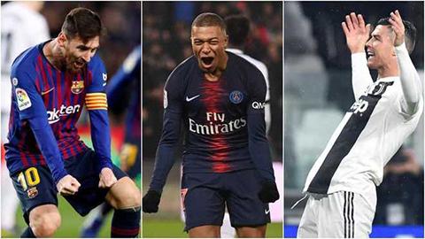 Đội hình đỉnh nhất mùa giải 2018/19: Hazard, Mbappe 'chung mâm' Ronaldo và Messi