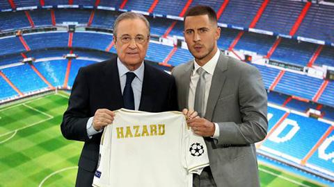 Hazard ra mắt Real mà không có... số áo