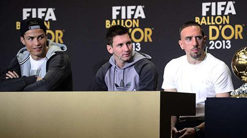 Ribery vẫn chưa quên món hận thua Messi và Ronaldo ở Quả bóng Vàng