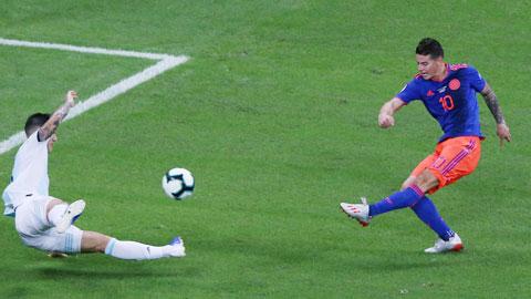 Colombia đánh bại Argentina: Show diễn của James Rodriguez