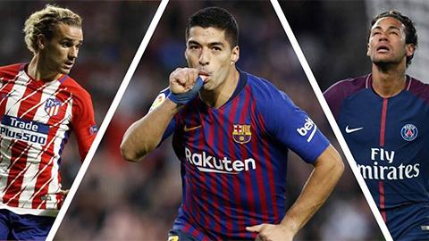 Suarez nói gì về khả năng Barca chiêu mộ Neymar và Griezmann?