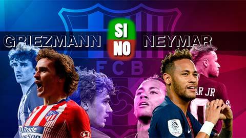 Griezmann hay Neymar: Barca cần cân nhắc ưu và nhược