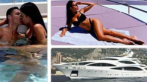 Ronaldo và bạn gái tình tứ trên du thuyền 17 triệu euro