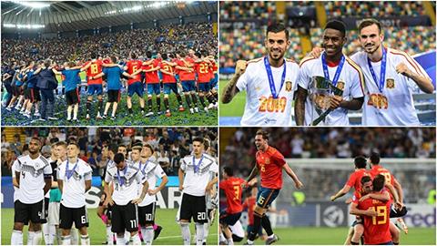 Cảm xúc trái ngược của Tây Ban Nha và Đức sau trận chung kết U21 châu Âu