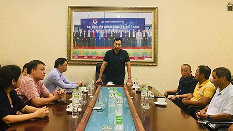 Tân Trưởng ban Bóng đá nữ VFF khoá VIII gặp ĐT nữ Việt Nam