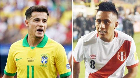 Brazil có Coutinho thì Peru có Cueva
