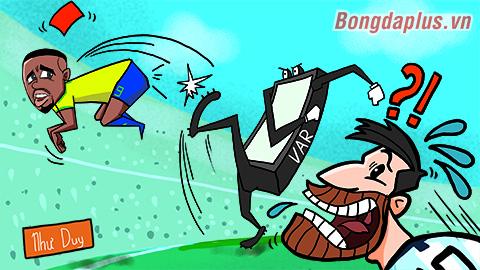 Biếm họa: Messi chửi oan VAR