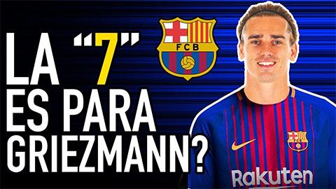 Griezmann lấy áo số 7 của Coutinho ở Barca